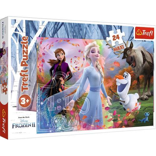 Puzzle trefl 24 maxi frozen2 o zi plina de aventuri - Jocuri pentru copii - Jocuri cu puzzle