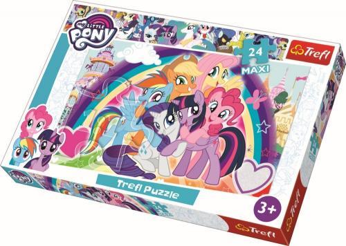 Puzzle trefl 24 maxi ponei fericiti - Jocuri pentru copii - Jocuri cu puzzle