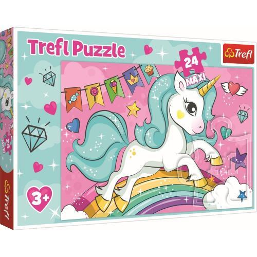 Puzzle trefl 24 maxi unicornul curcubeu - Jocuri pentru copii - Jocuri cu puzzle