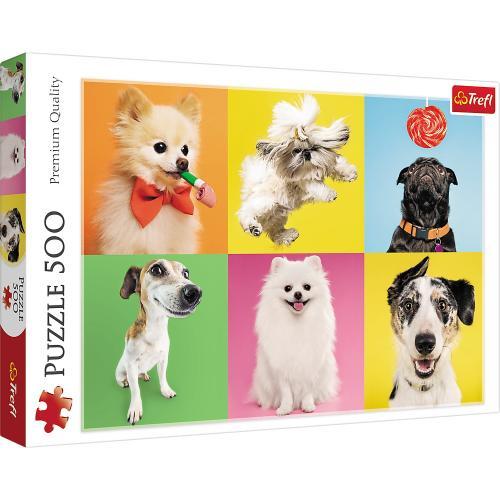 Puzzle trefl 500 catelusi - Jocuri pentru copii - Jocuri cu puzzle