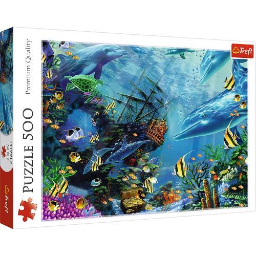 Puzzle trefl 500 comoara din adancuri - Jocuri pentru copii - Jocuri cu puzzle