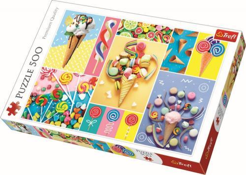 Puzzle trefl 500 dulciuri delicioase - Jocuri pentru copii - Jocuri cu puzzle