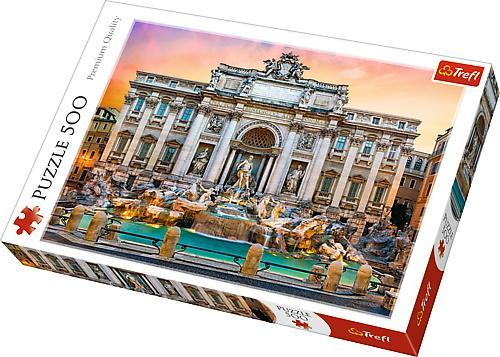 Puzzle trefl 500 fontanna di trevi roma - Jocuri pentru copii - Jocuri cu puzzle