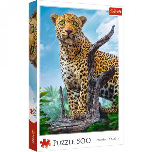 Puzzle trefl 500 leopard in savana - Jocuri pentru copii - Jocuri cu puzzle