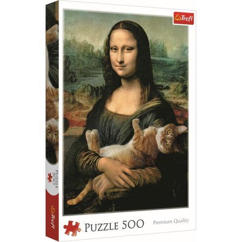 Puzzle trefl 500 monalisa cu pisica - Jocuri pentru copii - Jocuri cu puzzle