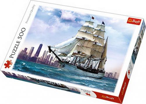 Puzzle trefl 500 navigand spre chicago - Jocuri pentru copii - Jocuri cu puzzle