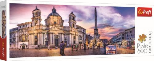 Puzzle trefl 500 panorama piata navona din roma - Jocuri pentru copii - Jocuri cu puzzle