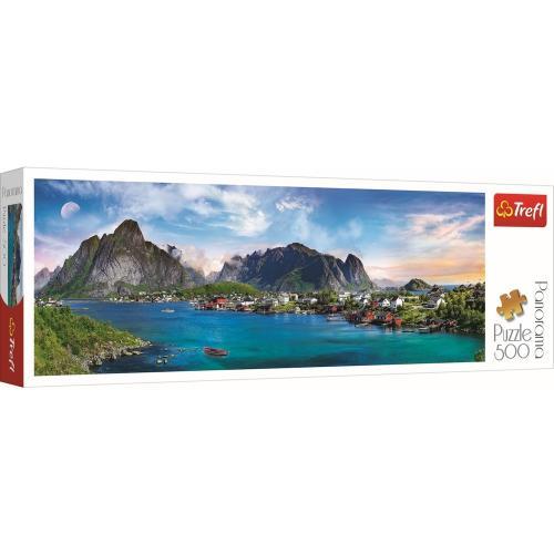 Puzzle trefl panorama 500 arhipelagul norvegian lofoten - Jocuri pentru copii - Jocuri cu puzzle