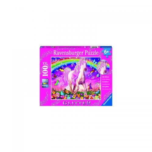Puzzle Unicorn Si Curcubeu - 100 Piese - Jocuri pentru copii - Jocuri cu puzzle