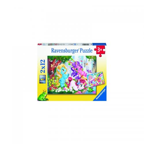 PUZZLE UNICORNI MAGICI - 2x12 PIESE - Jocuri pentru copii - Jocuri cu puzzle