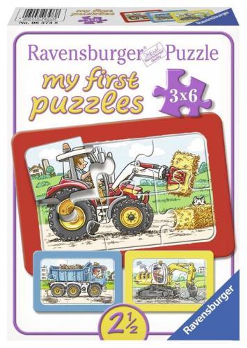 Puzzle utilaje - 3x6 piese - Jocuri pentru copii - Jocuri cu puzzle