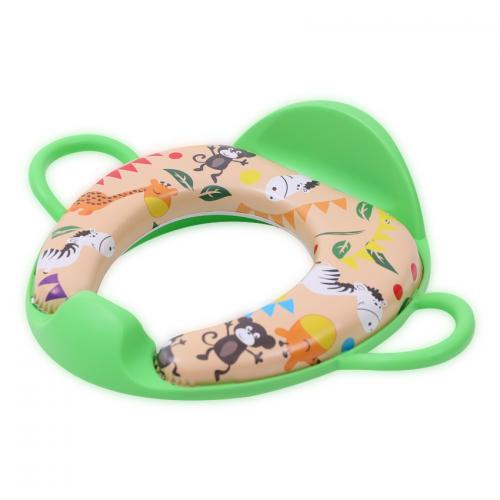 Reductor moale pentru toaleta - cu manere si spatar - green monkey - Igiena ingrijire - Olita bebe