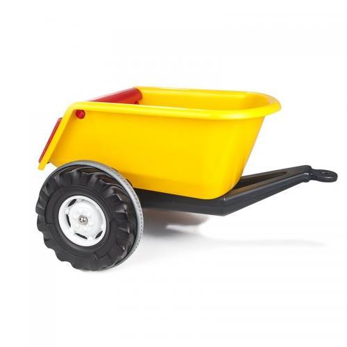 Remorca pentru tractor pilsan big galbena - Plimbare bebe - Masinuta electrica
