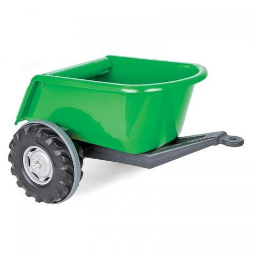 Remorca pentru tractor pilsan big verde - Plimbare bebe - Masinuta electrica