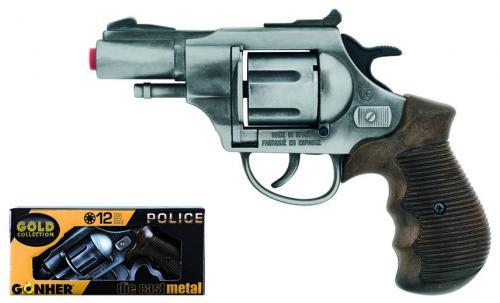 Revolver Politie Gonher Old Silver - 38/1 - Jucarii copilasi - Pusti si pistoale