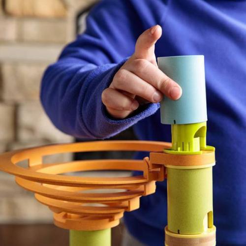 Rollercoaster din bambus cu bile - Jucarii copilasi - Jucarii de constructie