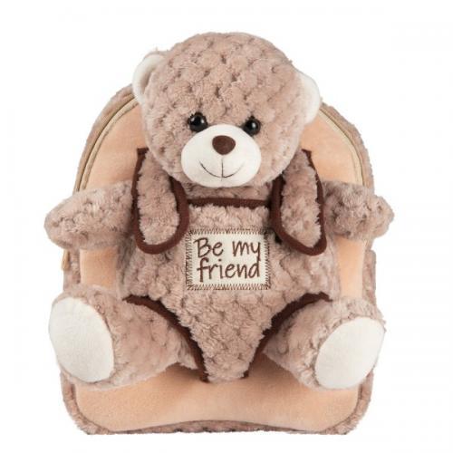 Rucsacel plus soft cu ursulet detasabil - Milly Bear Perletti - Rechizite - Ghiozdane si trolere