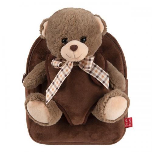 Rucsacel plus soft cu ursulet detasabil - Tommy Bear Perletti - Rechizite - Ghiozdane si trolere