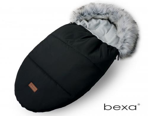 Sac de dormit pentru carucior bexa cu blanita si interior fleece - negru - Carucior bebe - Accesorii carut
