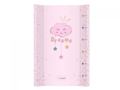 Saltea De Infasat Bebe Cu Intaritura 70x47 -5 Klups Clouds Pink 407 - Camera bebelusului - Masa infasat