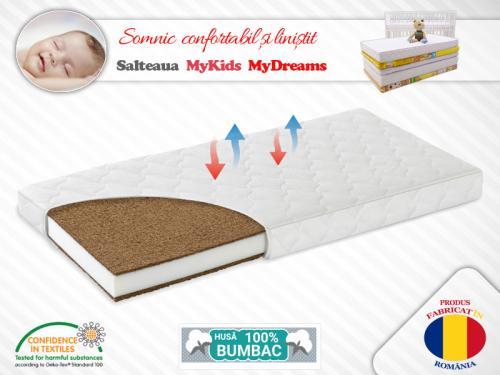 Saltea Fibra Cocos MyKids MyDreams II 160x65x12 (cm) - Camera bebelusului - Saltea patut
