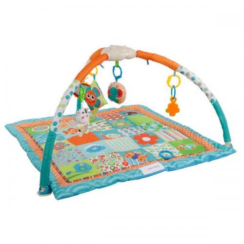 Salteluta de joaca sun baby 031 patchwork - Camera bebelusului - Saltea de joaca