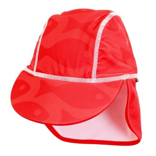 Sapca Fish red 0- 1 ani protectie UV Swimpy - Plimbare bebe -