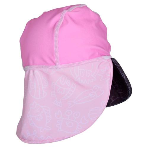 Sapca Pink Ocean 4-8 ani protectie UV Swimpy - Plimbare bebe -