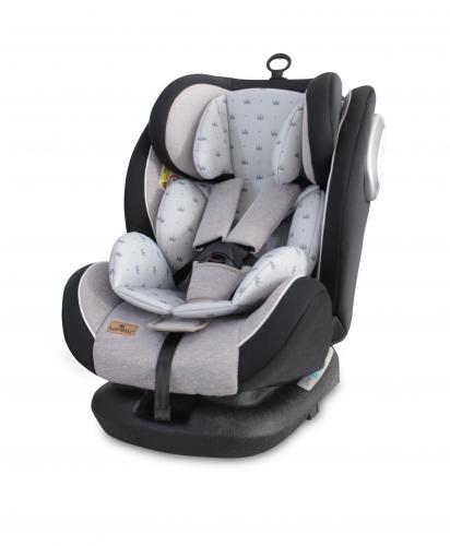 Scaun auto corsica isofix - grey crowns - Scaune auto copii - Scaun auto 0-36 kg