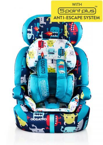 Scaun Auto Cosatto Zoomi 123 Cuddle Monster (5 Plus) - Scaune auto copii - Scaun auto 15-36 kg