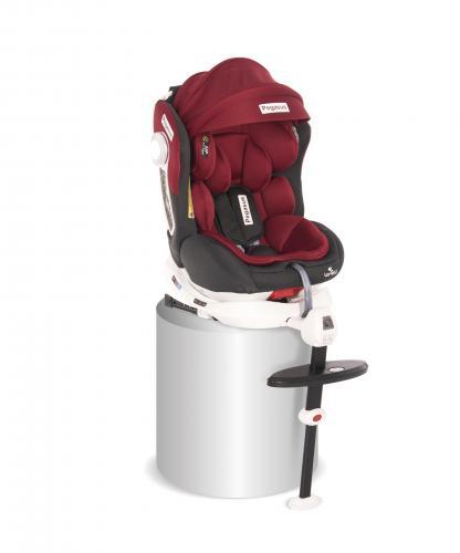 Scaun auto cu picior de fixare - pegasus - isofix - rotativ 360 grade - red & black - Scaune auto copii - Scaun auto 0-36 kg