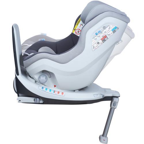Scaun auto Rear Facing rotativ Tiago 0-18 kg gri KidsCare - Scaune auto copii - Scaun auto 0-18 kg