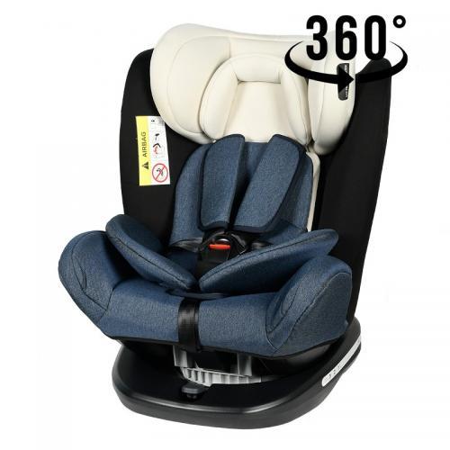 Scaun Auto Tweety BlueJeans cu Isofix rotativ 360 grade Crocodile 0 36 kg baza neagra - Scaune auto copii - Scune cu isofix