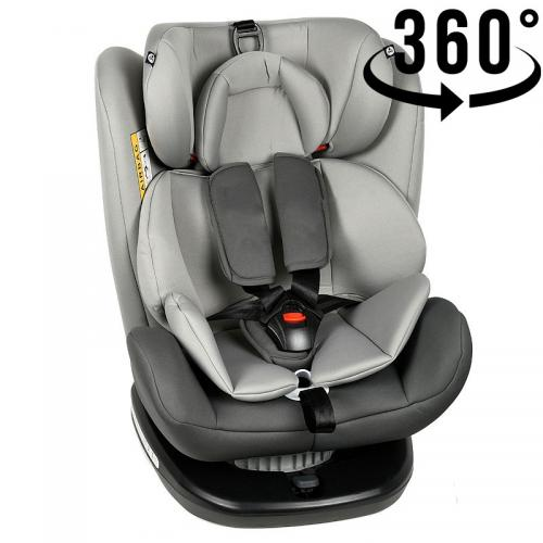 Scaun Auto Tweety DuoGrey cu Isofix rotativ 360 grade Crocodile 0 36 kg baza neagra - Scaune auto copii - Scune cu isofix