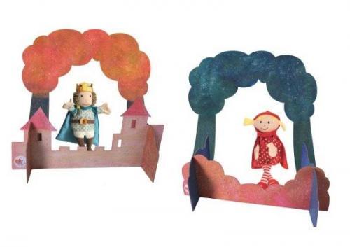 Scena mica pentru teatru de papusi - egmont toys - Jucarii copilasi -