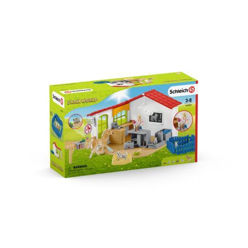 SCHLEICH Cabinet veterinar cu animale de companie - Jucarii copilasi - Figurine pop