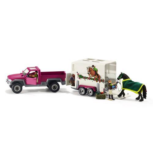 SCHLEICH Camioneta cu remorca pentru cai - Jucarii copilasi - Figurine pop