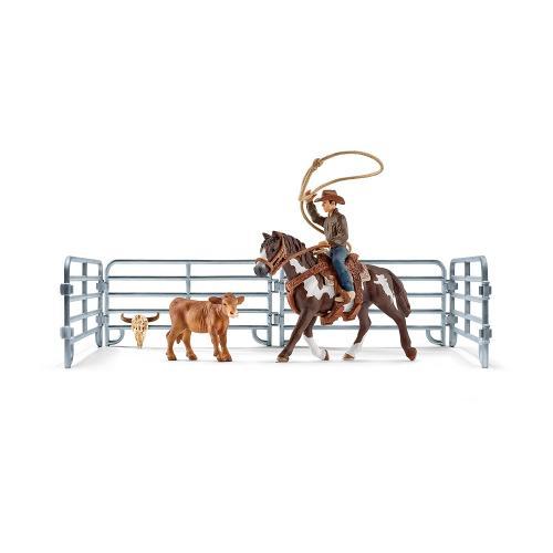 SCHLEICH Cawboy calare care arunca cu lasoul - Jucarii copilasi - Figurine pop