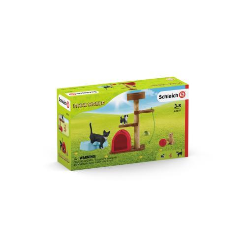 SCHLEICH Distractie pentru pisicute dragute - Jucarii copilasi - Figurine pop