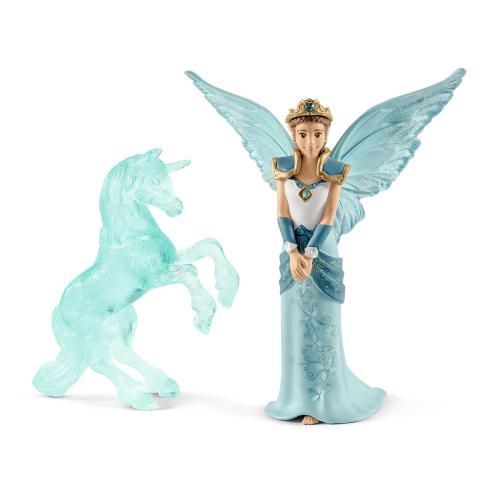 SCHLEICH Film Eyela si scluptarea de gheata Unicorn - Jucarii copilasi - Figurine pop