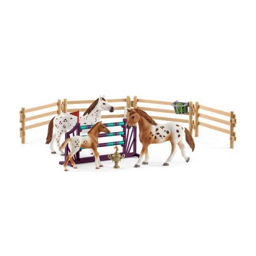 SCHLEICH Set de antrenament pentru turnir al Lisei Horse Club - Jucarii copilasi - Figurine pop