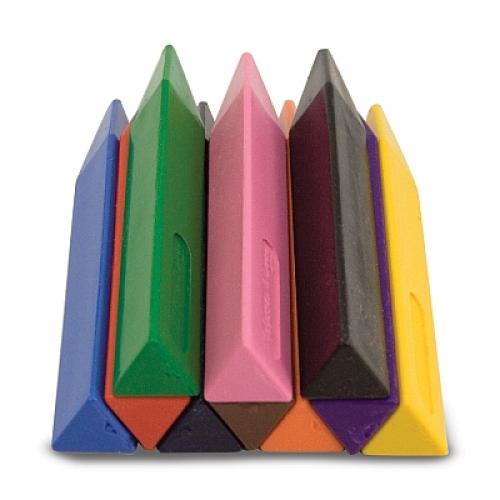 Set 10 Creioane Groase Trunghiulare Melissa And Doug - Jucarii copilasi - Arta indemanare