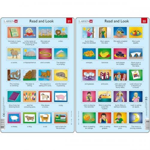 Set 10 Puzzle-uri Read and Look 21 -30 (EN) - 10 piese Larsen LRRA11 - Jocuri pentru copii - Jocuri cu puzzle