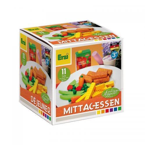 Set 11 alimente din lemn Pranz - 3 ani+ - Erzi - Jucarii copilasi - Jucarii educative bebe