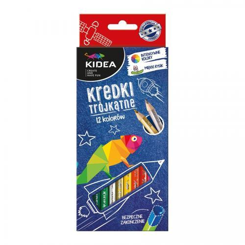 Set 12 creioane colorate Kidea - Rechizite - Creione carioci