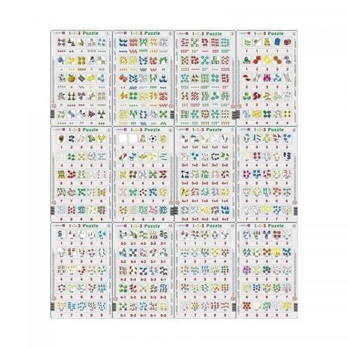 Set 12 Puzzle-uri 1-2-3 - 25 Piese Larsen LRP46 - Jocuri pentru copii - Jocuri cu puzzle