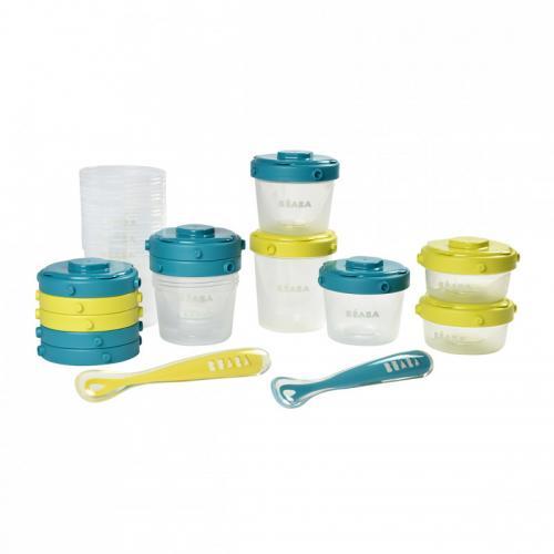 Set 12 recipiente ermetice si 2 lingurite silicon - Blue - Hrana bebelusi - Accesorii alimentare