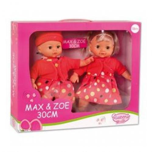 Set 2 papusi Max & Zoe 30 cm - Papusi ieftine -