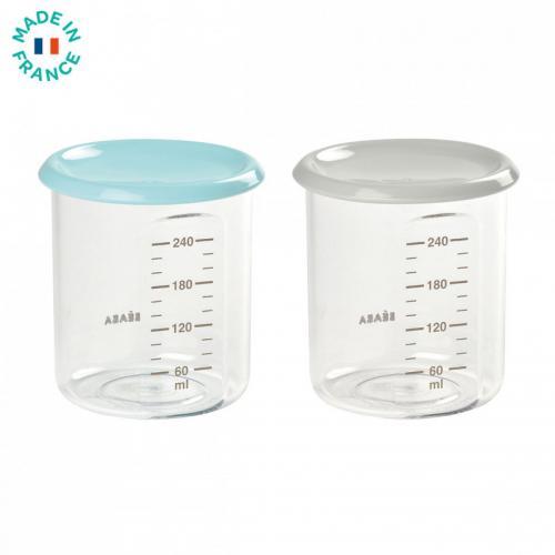 Set 2 recipiente ermetice din Tritan 240ml - Bleu Ciel - Hrana bebelusi - Accesorii alimentare
