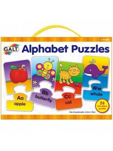 Set 26 de puzzle-uri Alphabet (2 piese) - Jocuri pentru copii - Jocuri cu puzzle